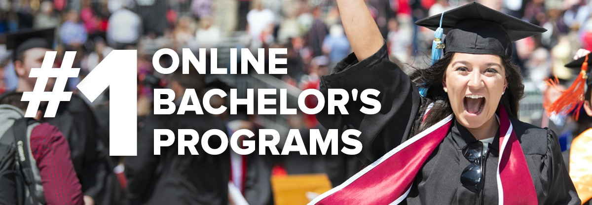 #1 Online Bachelor's Programs text with Ohio State graduate