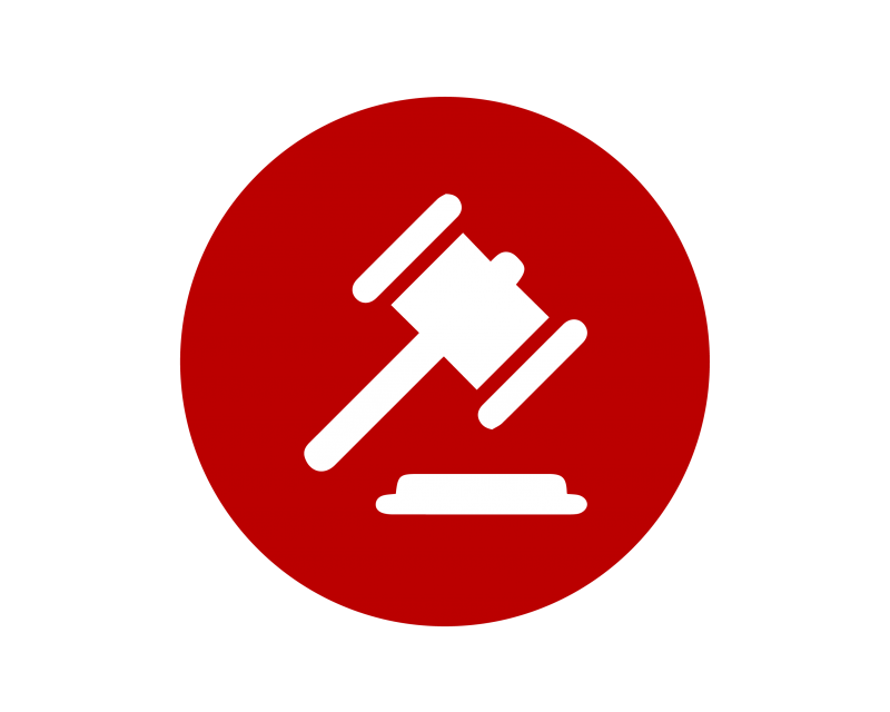 gavel icon for criminal justice administration certificate